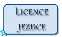 Licence jezdce kartička